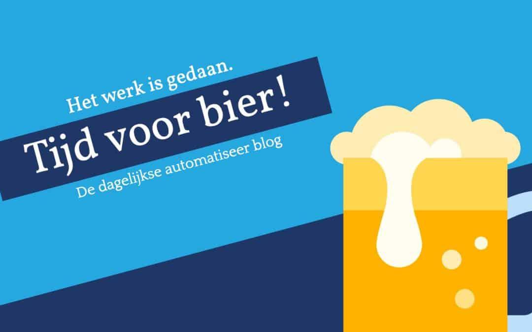 Tijd voor bier!