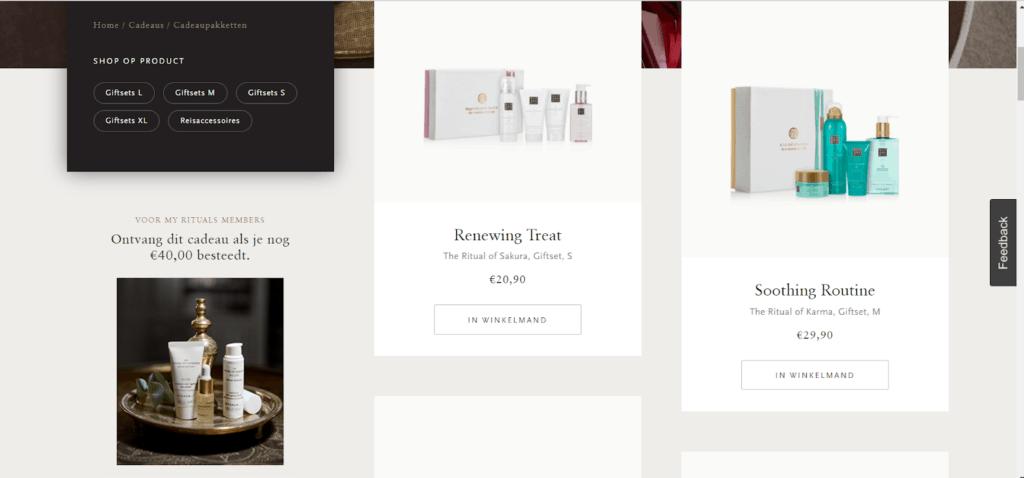 Product aanbeveling Interactieve Content
