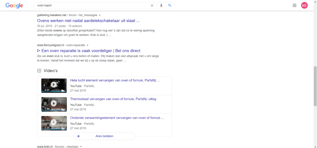 Video in SEO-resultaten