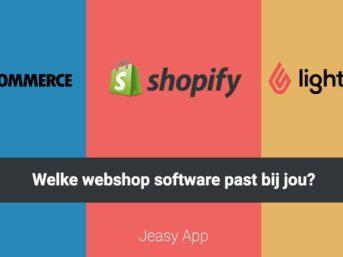 Webshop software